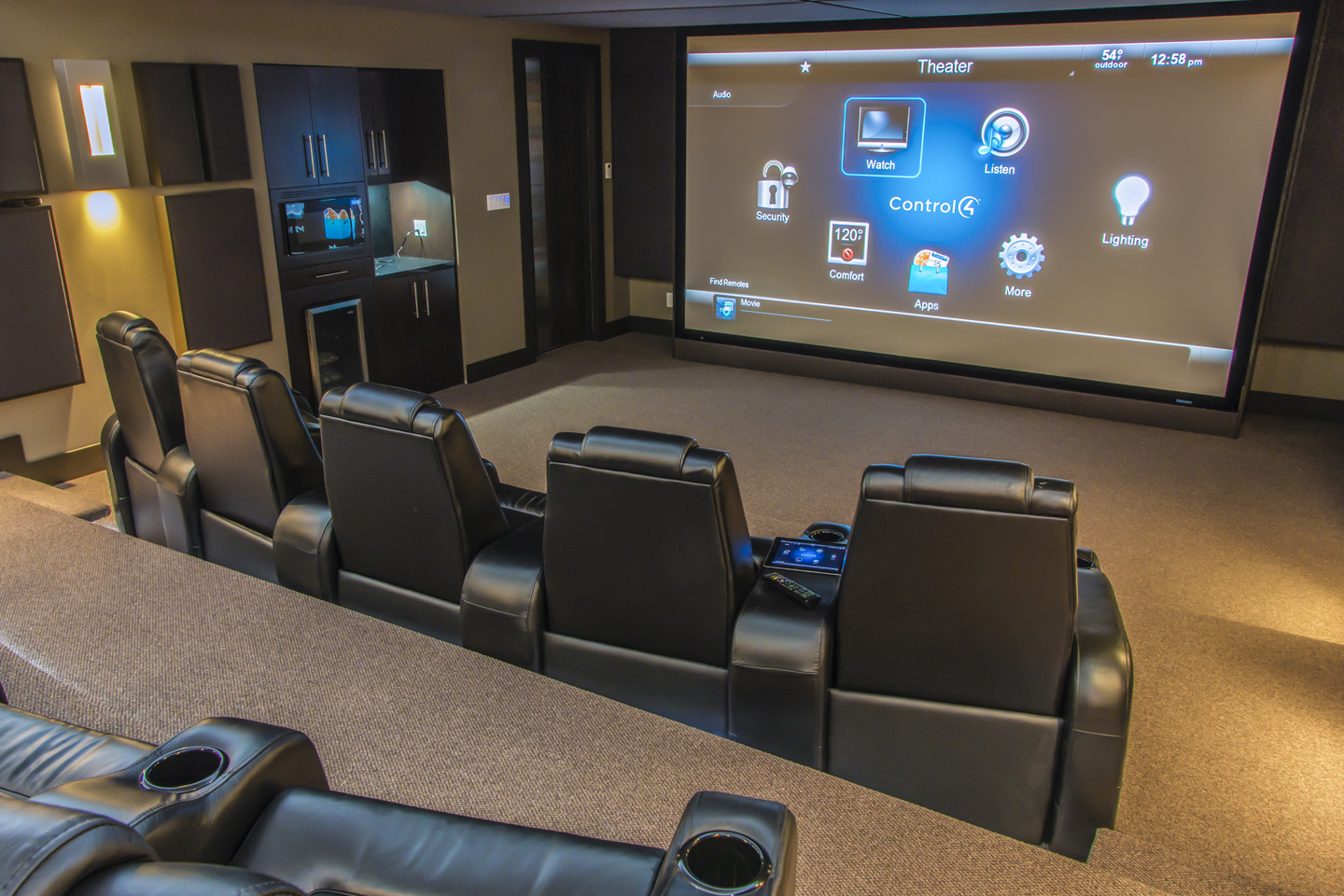 Control4 Wiring For Home Theater Great Installation Of Audio Design Premier Smart Homes Take Control Rh Premiersmarthomes Ca Subwoofer Room